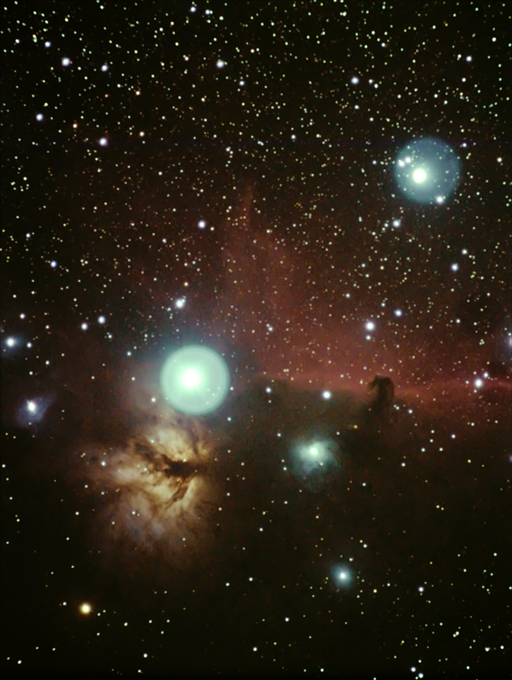 Horsehead and the Flame Nebula